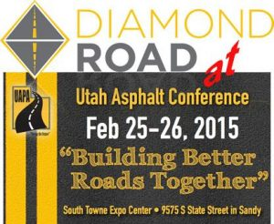 Diamond Road Smoother at Utah asphalt pavement association conference